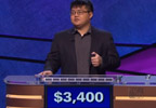 Arthur Chu performing on Jeopardy!