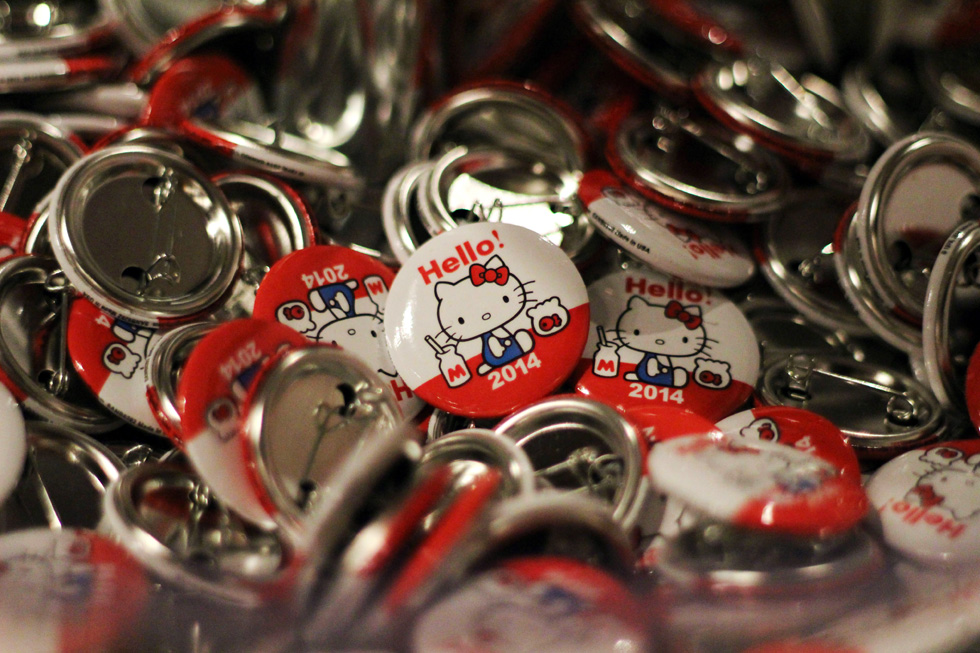Hello Kitty buttons from her fan festival