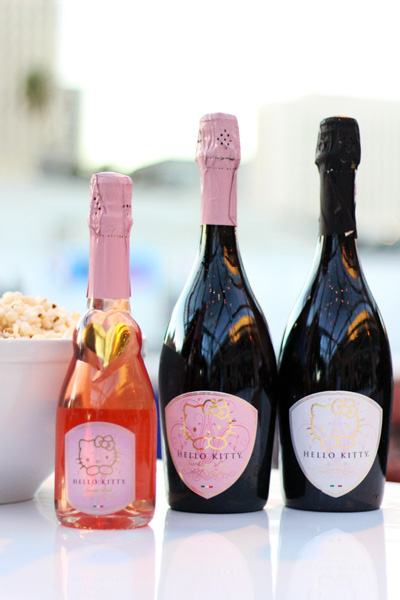Hello Kitty champagne and rose bottles