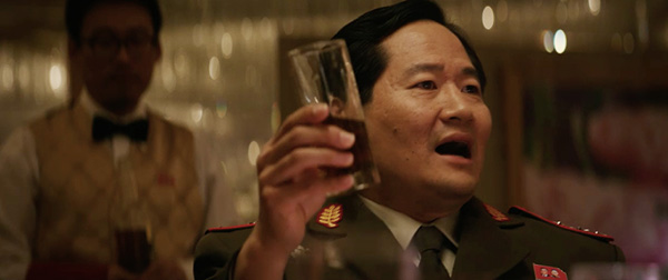 Charles Chun in character in a still from the film The Interview