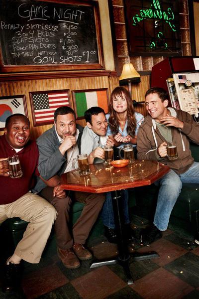 Bar regulars at Sullivan & Son's Irish pub.